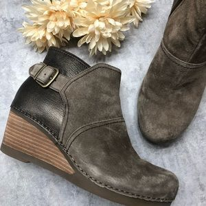 Dansko Bronze / Brown Shirley Wedge Booties